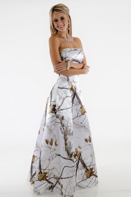 White Camo Prom Dresses Cheap 66