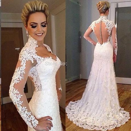 Aliexpress.com : Buy Vestido De Noiva 2015 Lace Long Sleeve High Neck ...