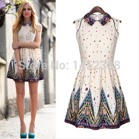 Innovative 2013AutumnsummerWomensFashionDressesVintageDressWomenChinese