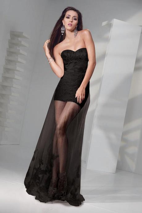 Black Dress With Sheer Bottom