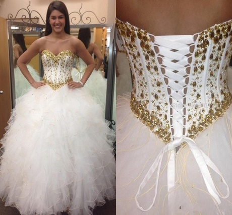 gold dresses for quinceanera