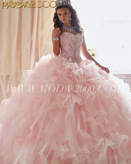 Light Pink And Gold Quinceanera Dresses