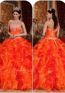 Orange quinceanera dresses