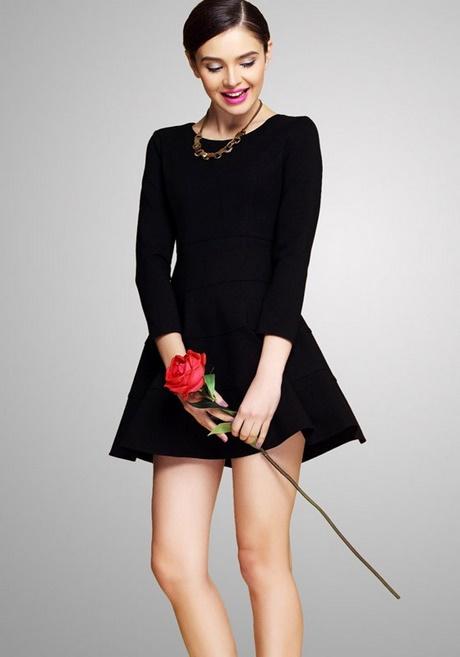 Plain Black Dress Long Sleeve