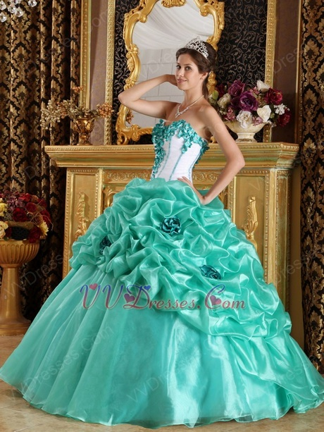 Quinceanera Dresses Color Turquoise