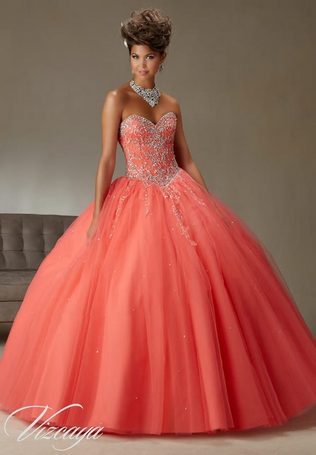 Quinceanera Dresses Coral Pink