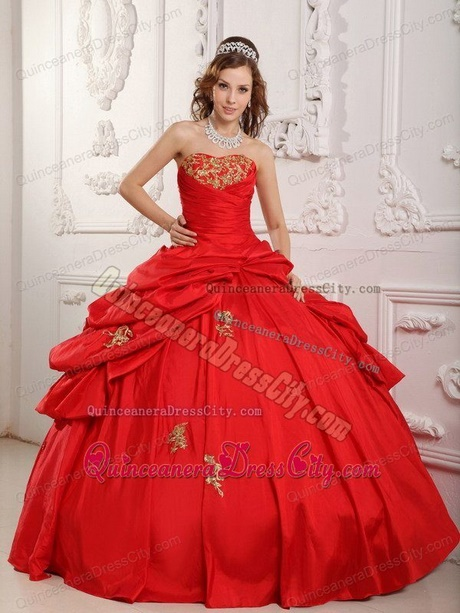 quinceanera red and gold dresses