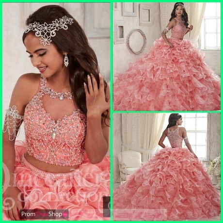 Quinceanera Dresses Pink And White Puffy