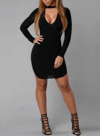 Womens black dresses with sleeves