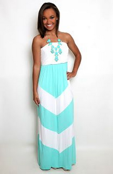 Lace chevron maxi dresses