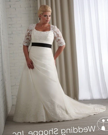 Wedding Gowns For Petite Figures: Full Figured Wedding Dresses With Sleeves
