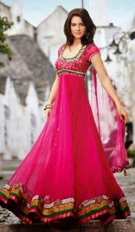 New Indian Wedding Anarkali Beautiful Indian Dress 2014  Beautiful Indian