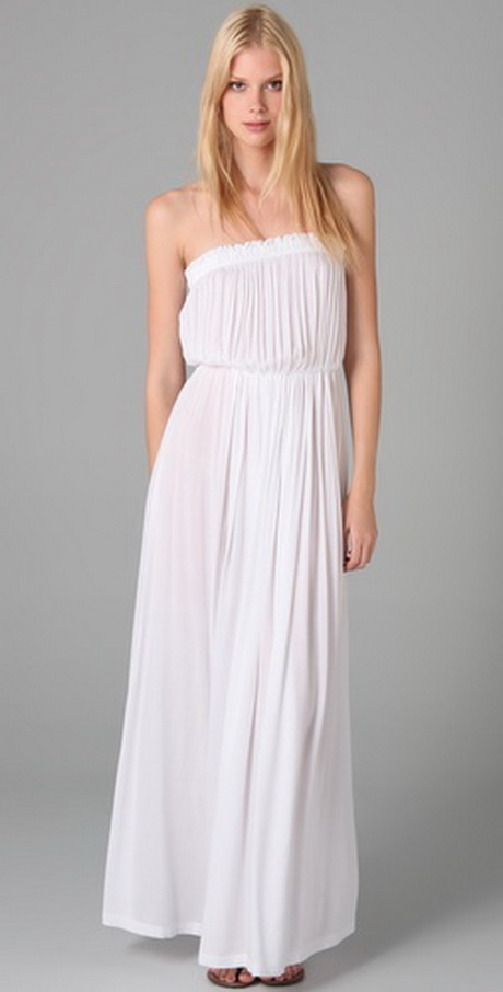 Long White Sundresses