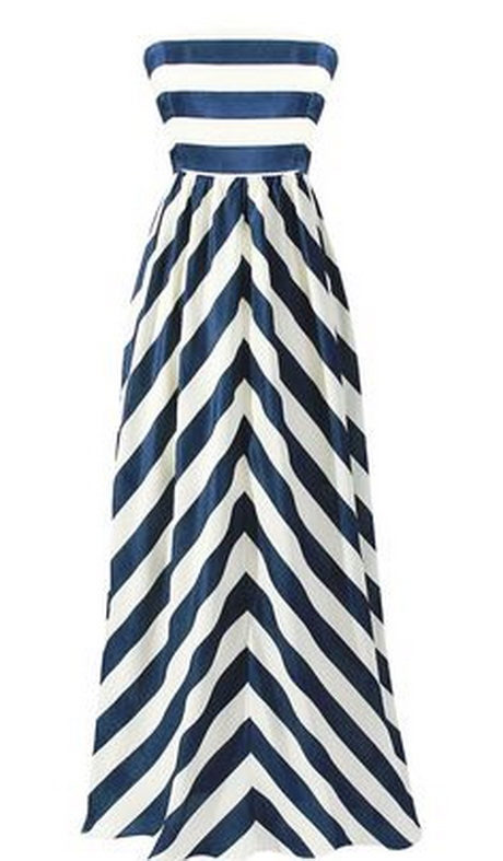 navy blue and white striped maxi dress