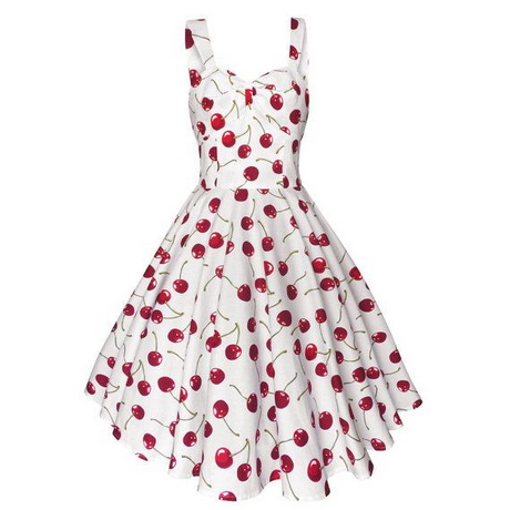 Red and white summer dress