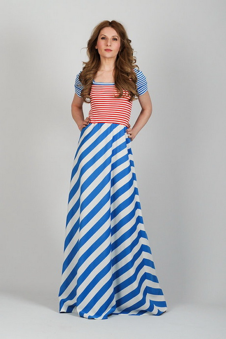 Red White And Blue Maxi Dress