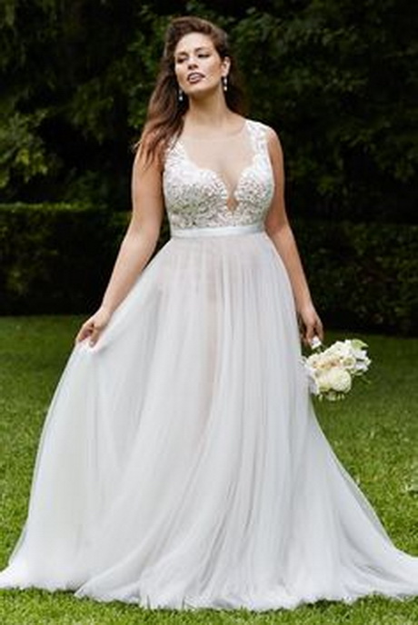 wedding dress for big women