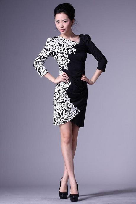 White and black dresses for women