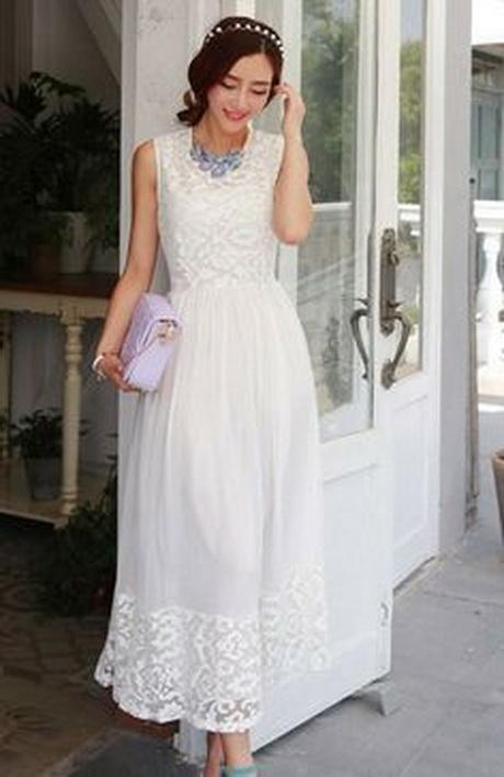 Womens long white dress