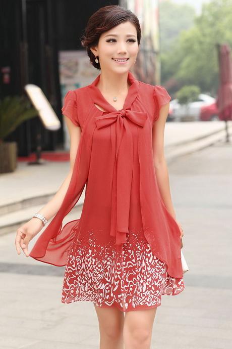 Summer Dress - Elastic Style Braided Round Neckline / Sleeveless Cut