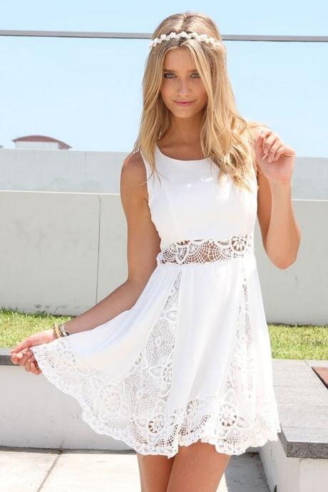 Womens White Sundress