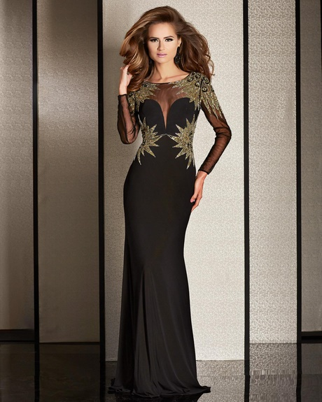 Black And Gold Mother Of The Bride Dress