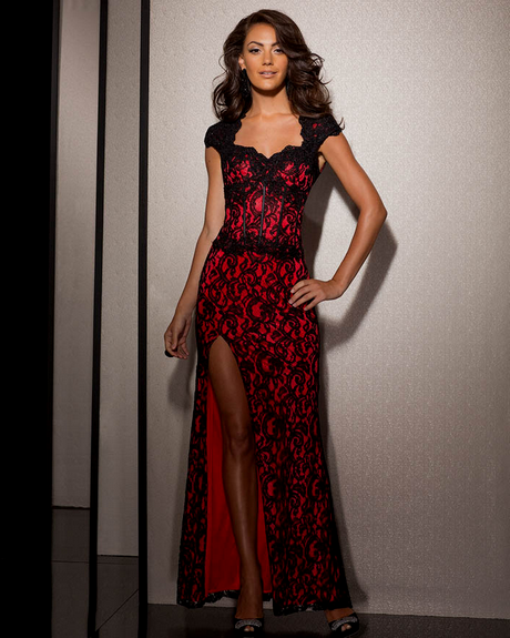 Red And Black Gown: Black And Red Prom Dress
