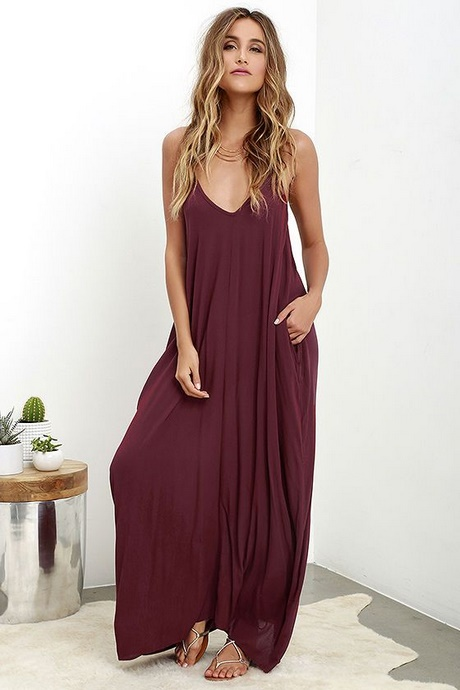 burgundy summer dress