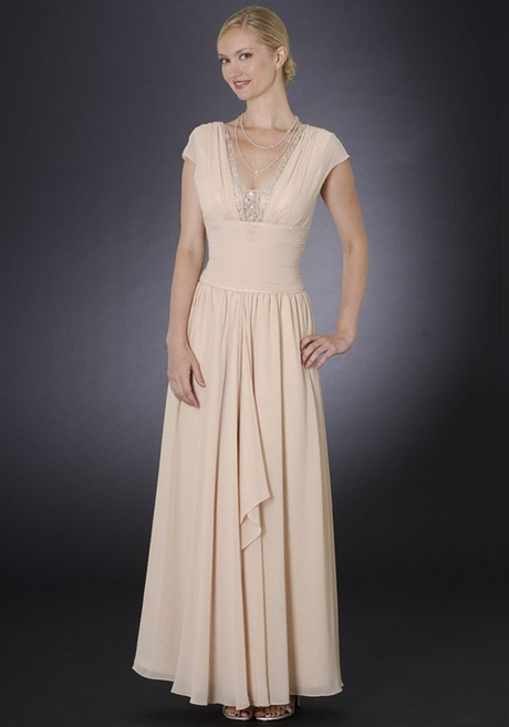 Champagne Mother Of The Bride Long Dresses