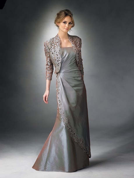 Gowns with jackets for mother of bride for Macy wedding dresses mother of the bride