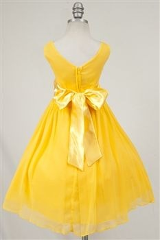 Flower Girl Dresses Canary Yellow