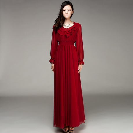 Long Frocks For Ladies With Sleeves
