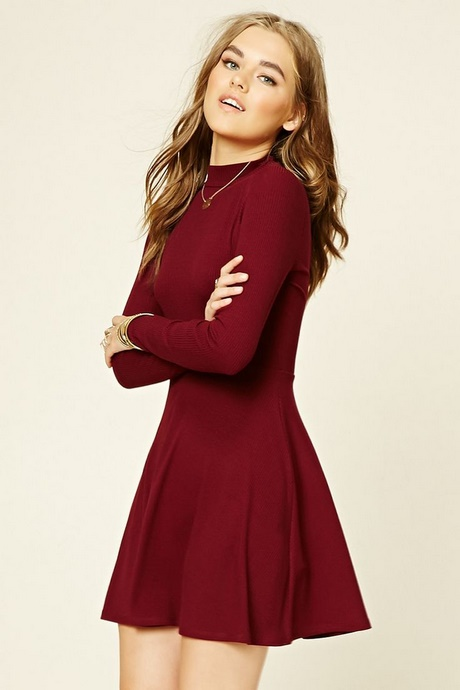 Maroon Dresses Casual