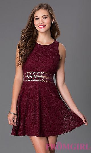 Maroon Dresses Short