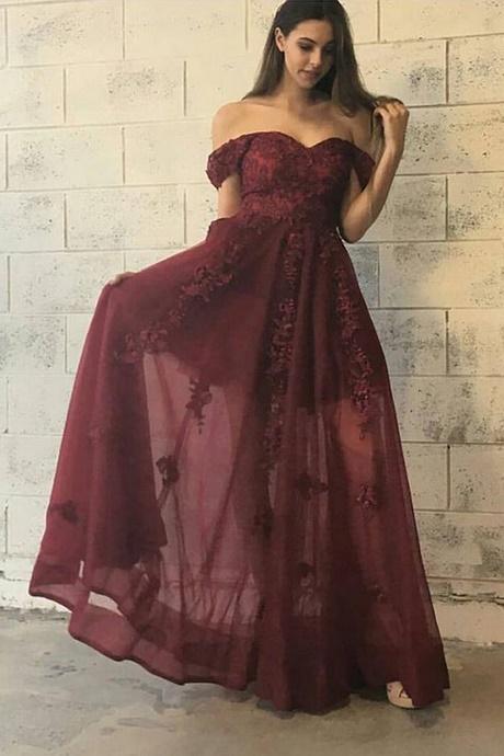 Maroon Prom Dresses 2017