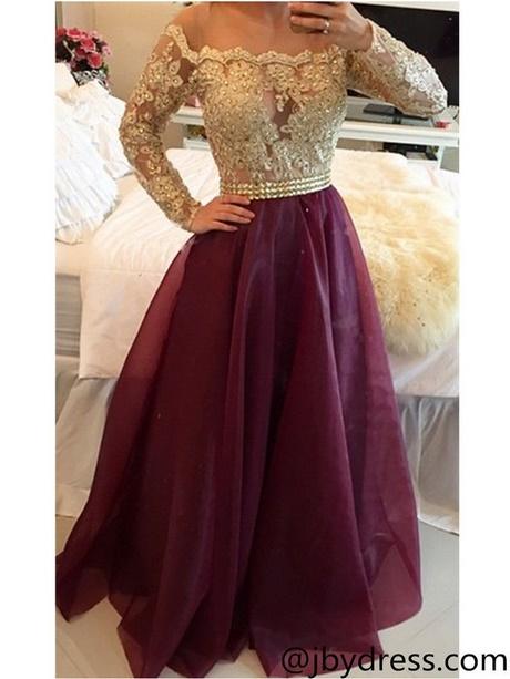 Maroon Long Sleeve Dress