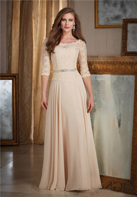 Mother Of Bride Champagne Dress