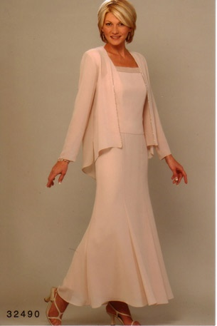 Mother Of The Bride Dress With Long Sleeve Jacket