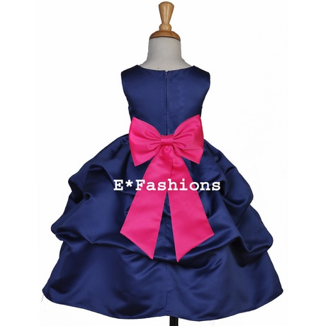 Navy blue and pink dress e65bb8939