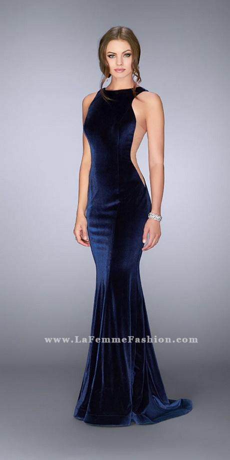 La Femme Prom Dresses Navy Blue 91