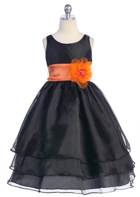 Orange And Black Dress
