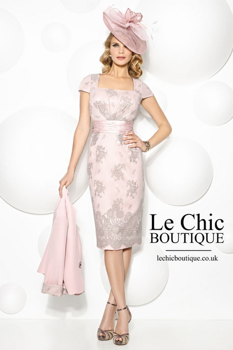 Pink And Grey Mother Of The Bride Dresses