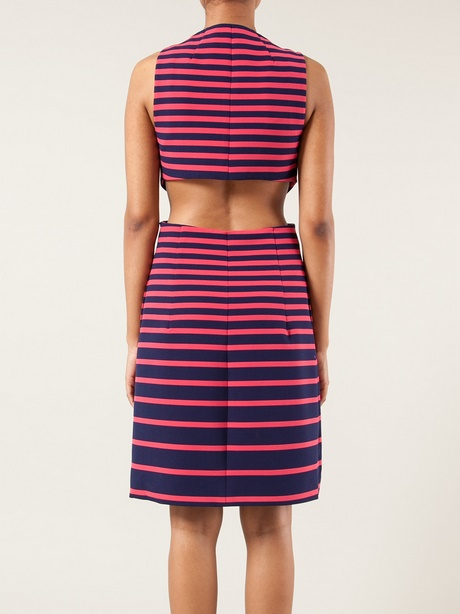 Pink And Purple Striped Dress