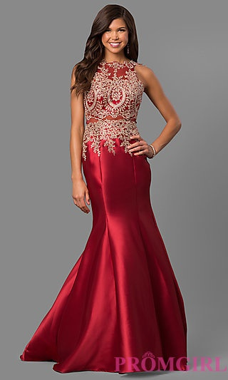 Red And Silver Prom Dress