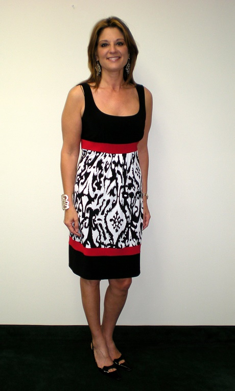 Red Black And White Dress