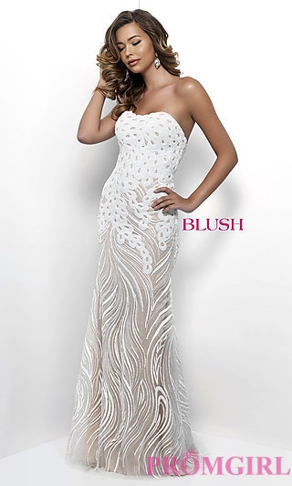 White And Silver Prom Dresses