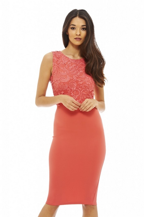 Womens Coral Dress
