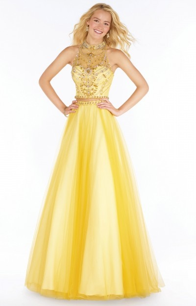 Yellow Ribbon Prom Dresses 41