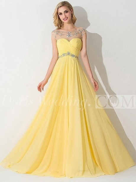 yellow lace prom dress 2017 - photo #38
