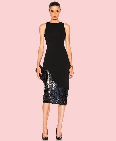 Black Formal Midi Dress